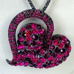 New Natasha  Heart Shaped necklace  pendant 💜